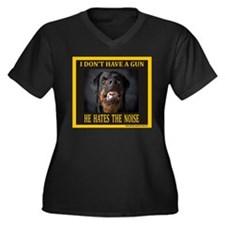 My Dog Women's Plus Size V-Neck Dark T-Shirt