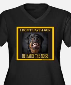 My Dog Women's Plus Size V-Neck Dark T-Shirt