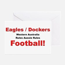 Eagles, Dockers, Football Greeting Cards (Package
