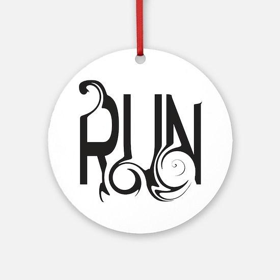Unique RUN Ornament (Round)