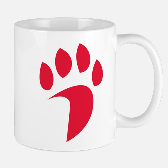 Davidson Wildcat PawPrint Red Small Mug