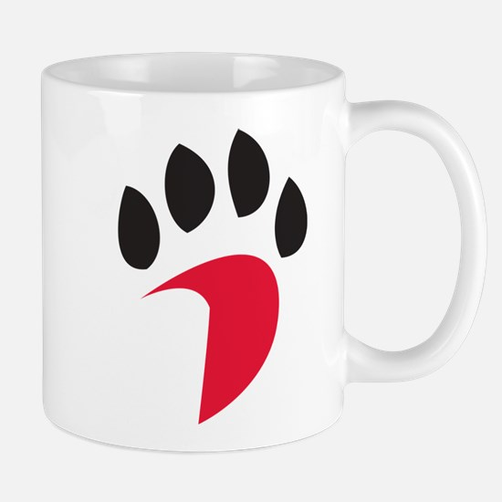 Davidson Wildcats Pawprint Red B Small Mug