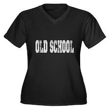 Old School Women's Plus Size V-Neck Dark T-Shirt