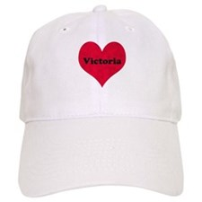Victoria Leather Heart Baseball Cap