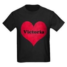 Victoria Leather Heart T