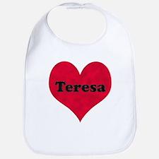 Teresa Leather Heart Bib