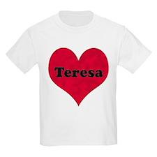 Teresa Leather Heart T-Shirt
