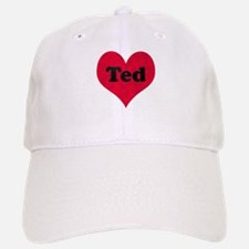 Ted Leather Heart Baseball Baseball Cap