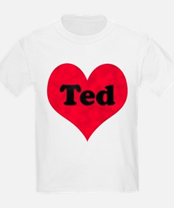 Ted Leather Heart T-Shirt