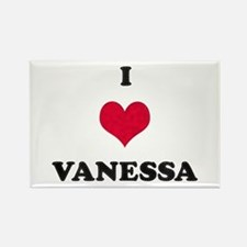 I Love Vanessa Rectangle Magnet