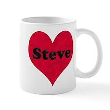 Steve Leather Heart Mug