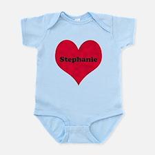 Stephanie Leather Heart Infant Bodysuit