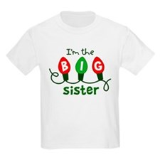 Big Sister Christmas lights T-Shirt
