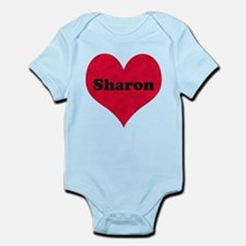 Sharon Leather Heart Infant Bodysuit