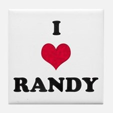 I Love Randy Tile Coaster