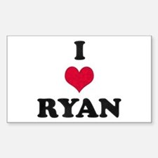 I Love Ryan Rectangle Bumper Stickers