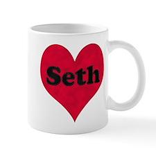 Seth Leather Heart Mug
