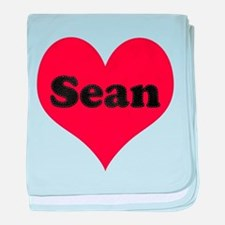Sean Leather Heart baby blanket