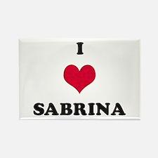 I Love Sabrina Rectangle Magnet