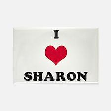 I Love Sharon Rectangle Magnet