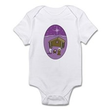 Purple Nativity Scene Infant Bodysuit