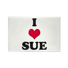 I Love Sue Rectangle Magnet