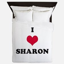 I Love Sharon Queen Duvet