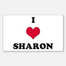 I Love Sharon Rectangle Decal