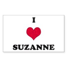 I Love Suzanne Rectangle Decal