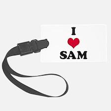 I Love Sam Luggage Tag