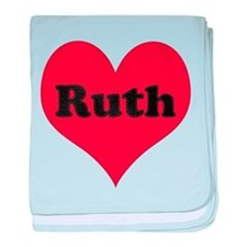 Ruth Leather Heart baby blanket