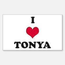 I Love Tonya Rectangle Decal