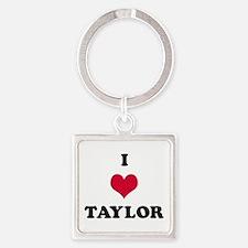 I Love Taylor Square Keychain