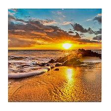Sunrise Beach Tile Coaster