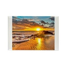 Sunrise Beach Rectangle Magnet