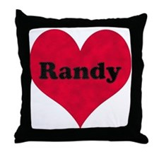 Randy Leather Heart Throw Pillow