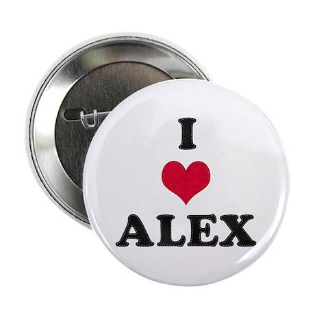 I Love Alex Button