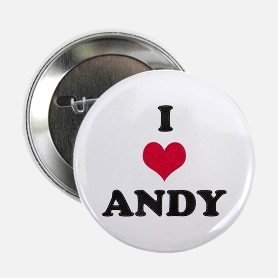 I Love Andy Button