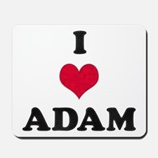 I Love Adam Mousepad