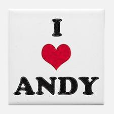 I Love Andy Tile Coaster