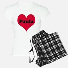 Paula Leather Heart Pajamas