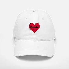 Paula Leather Heart Baseball Baseball Cap