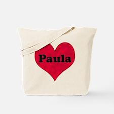Paula Leather Heart Tote Bag