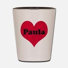 Paula Leather Heart Shot Glass
