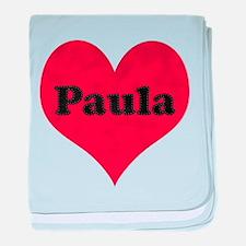 Paula Leather Heart baby blanket
