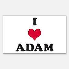 I Love Adam Rectangle Decal