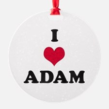 I Love Adam Ornament