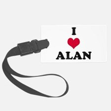 I Love Alan Luggage Tag