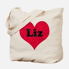 Liz Leather Heart Tote Bag