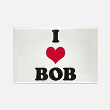 I Love Bob Rectangle Magnet